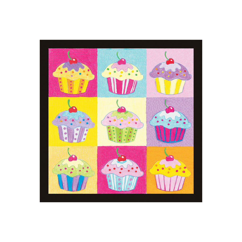 Paint by Number Cupcake Pop-Art