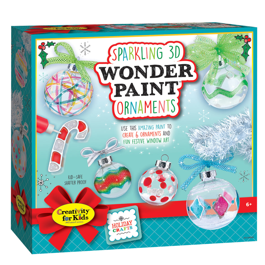Sparkling 3D Wonder Paint Ornaments