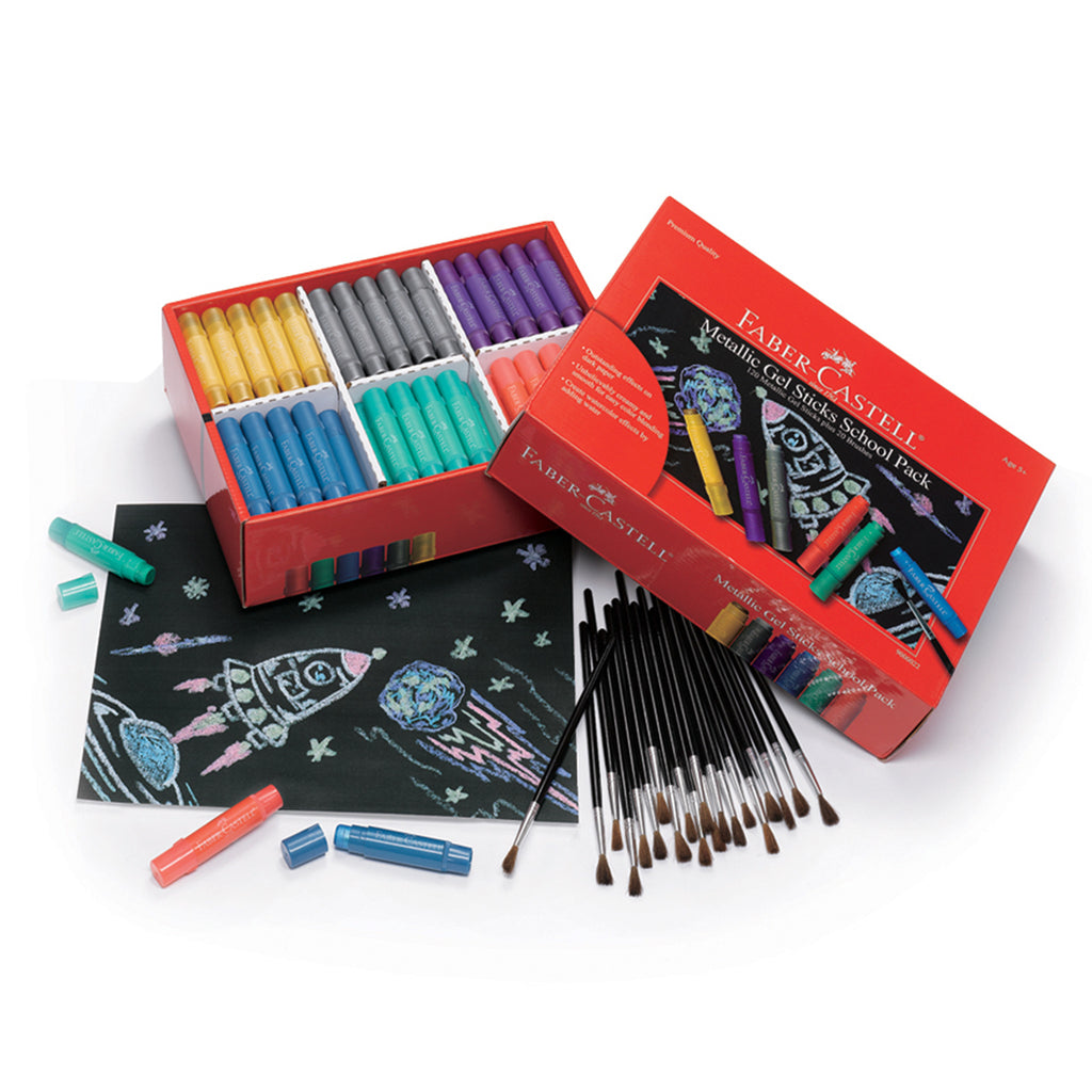 Metallic Gel Sticks School Pack
