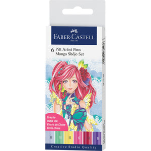 Pitt Artist Pen Shojo Basic - Wallet of 6 - #167155