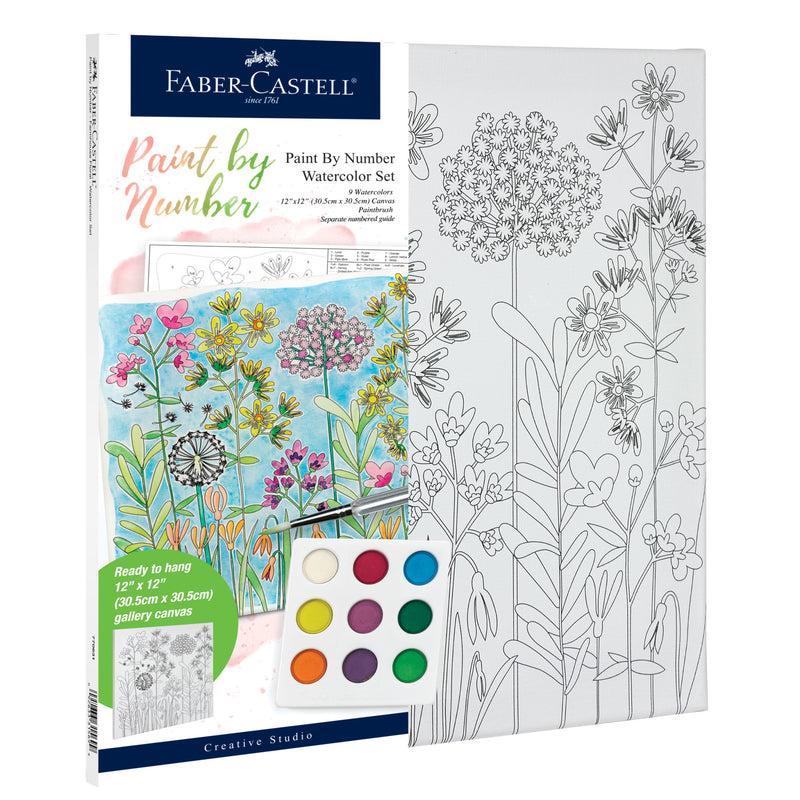 Watercolor Paint by Number Farmhouse - #770631