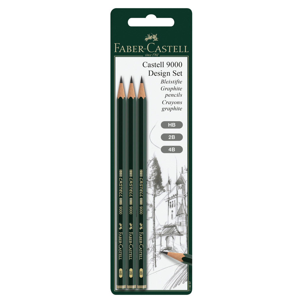 Castell® 9000 Design Set - Assortment of 3