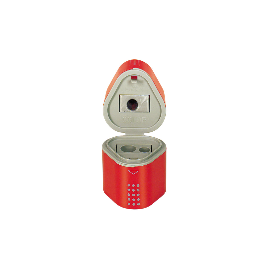 Grip Trio Pencil Sharpener - Red - #280175