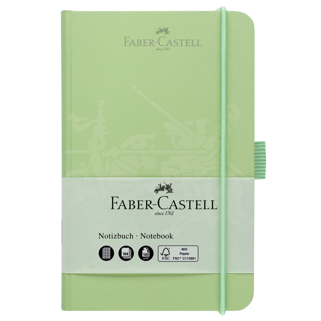 "Notebook A6 4.1"" x 5.8"" Squared Paper - Mint Green - #10020503"