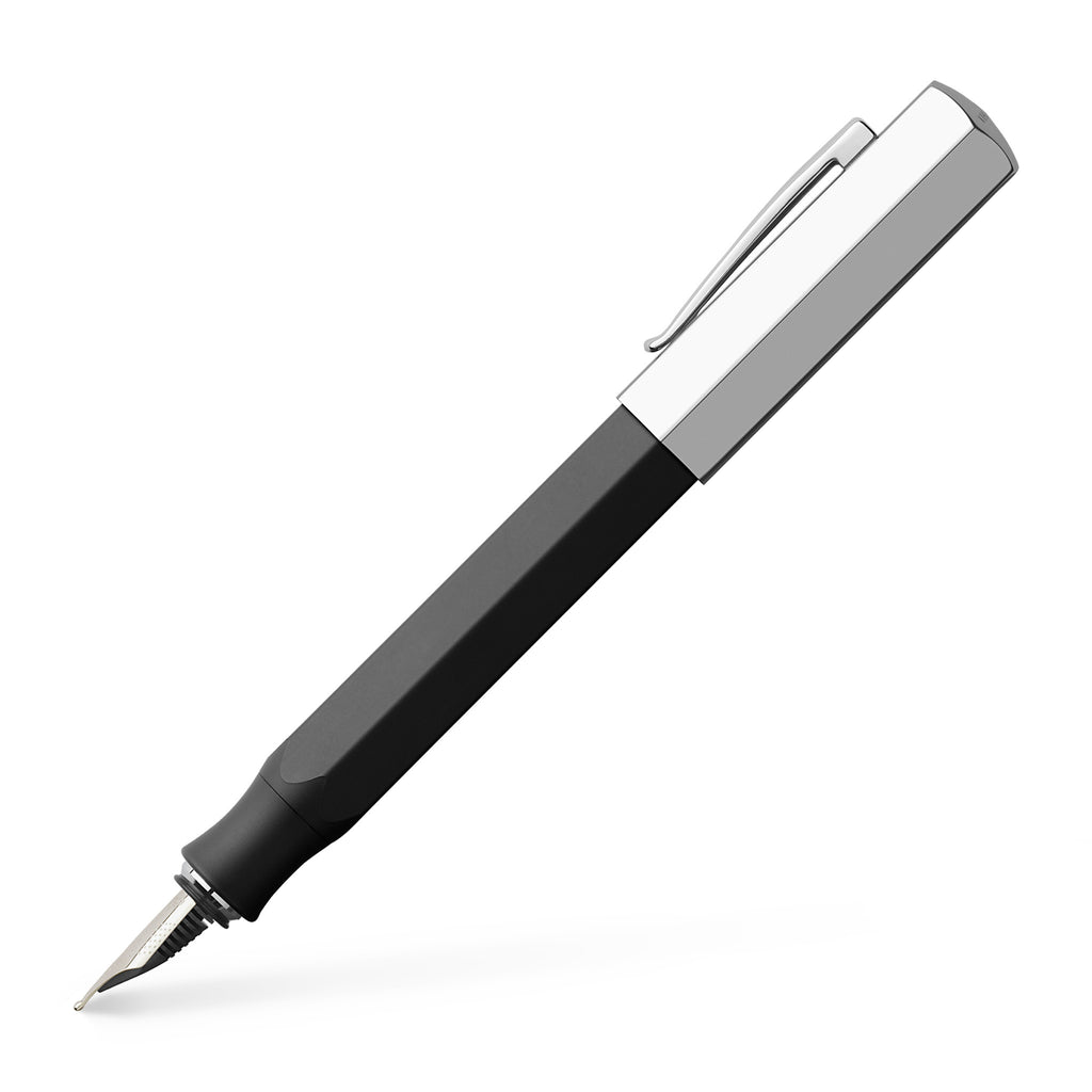 Ondoro Fountain Pen, Graphite Black - Broad