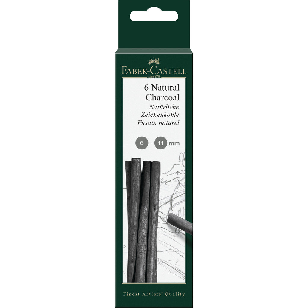 Pitt® Natural Willow Charcoal - 6 Sticks (6-11mm)