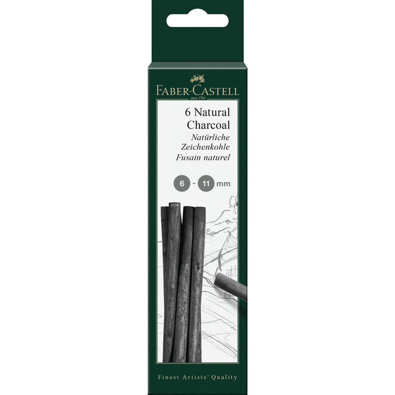 Pitt® Natural Willow Charcoal - 6 Sticks (6-11mm) - #129398