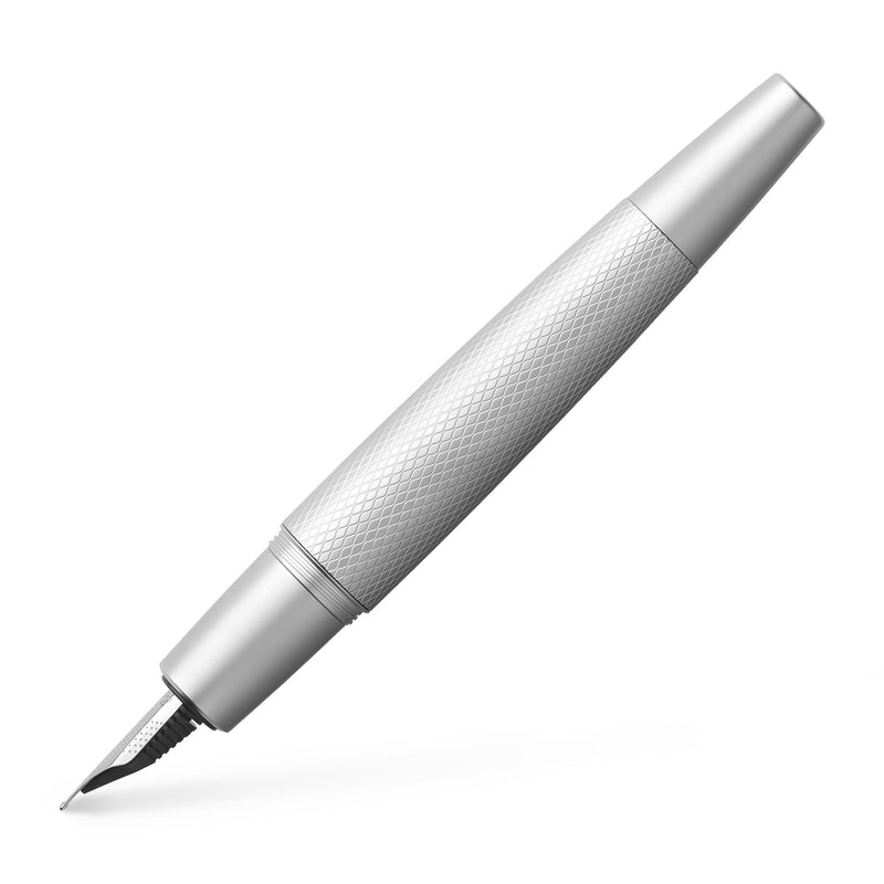 e-motion Fountain Pen, Pure Silver - Medium - #148670
