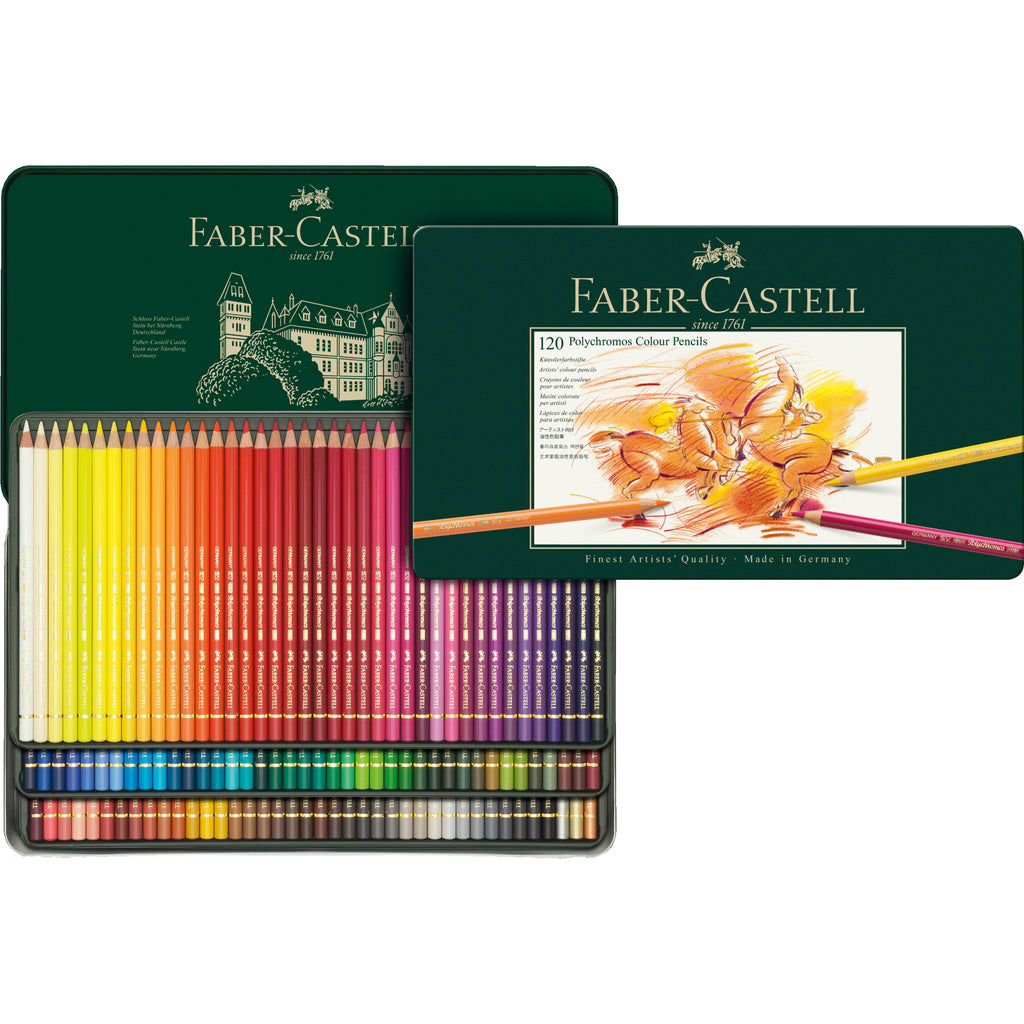 Polychromos® Artists' Color Pencils - Tin of 120