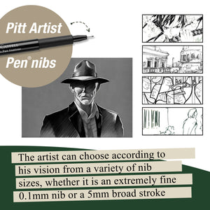Pitt Artist Pen® Black - Wallet of 8  - #567137