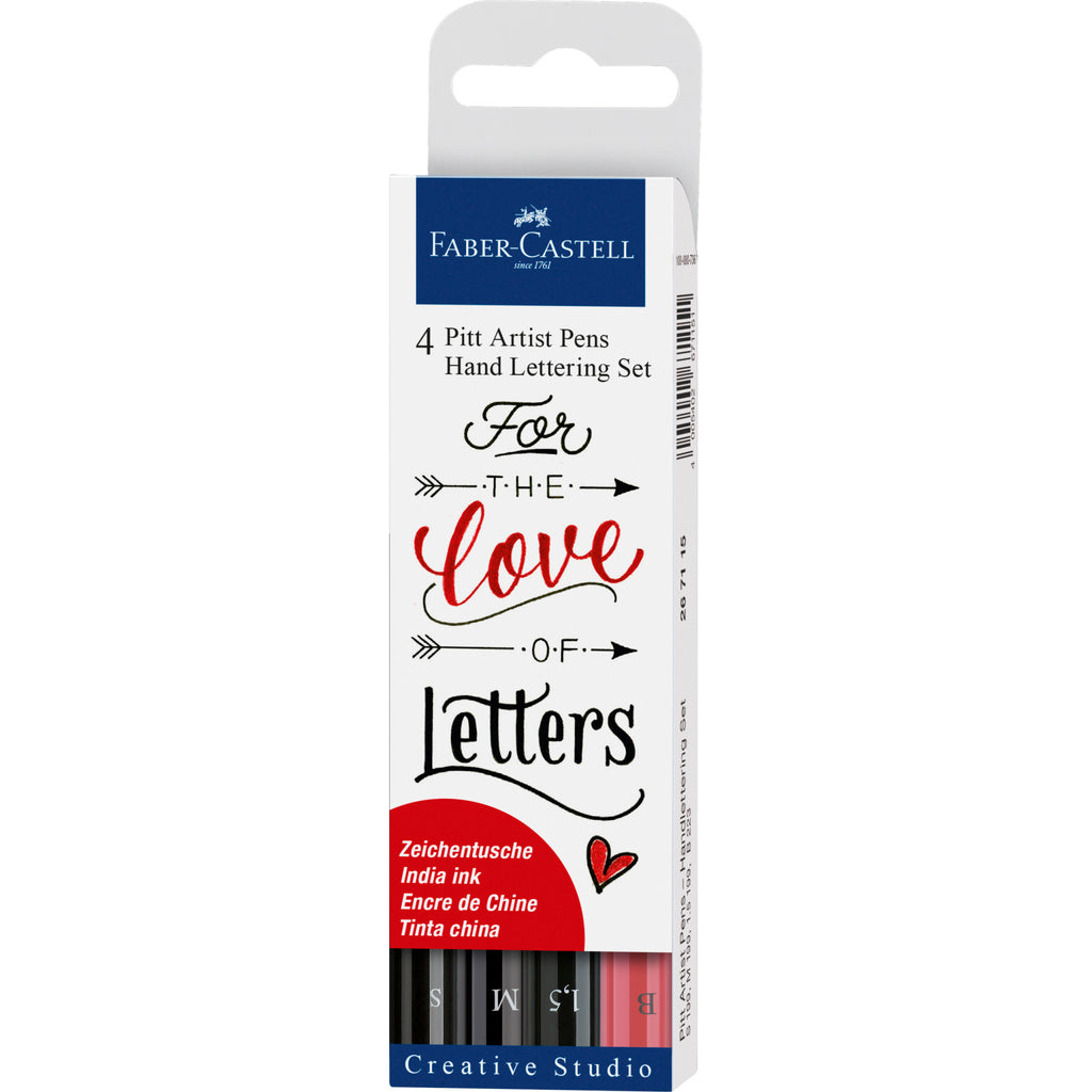Pitt Artist Pen® Hand Lettering Set - Wallet of 4 - #267115