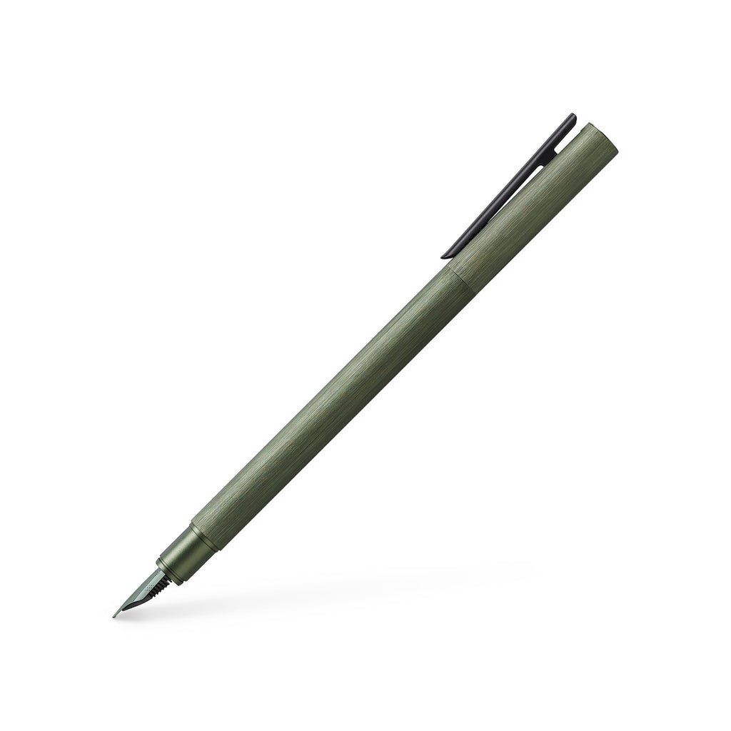 NEO Slim Fountain Pen, Aluminum Olive Green - Broad - #146153