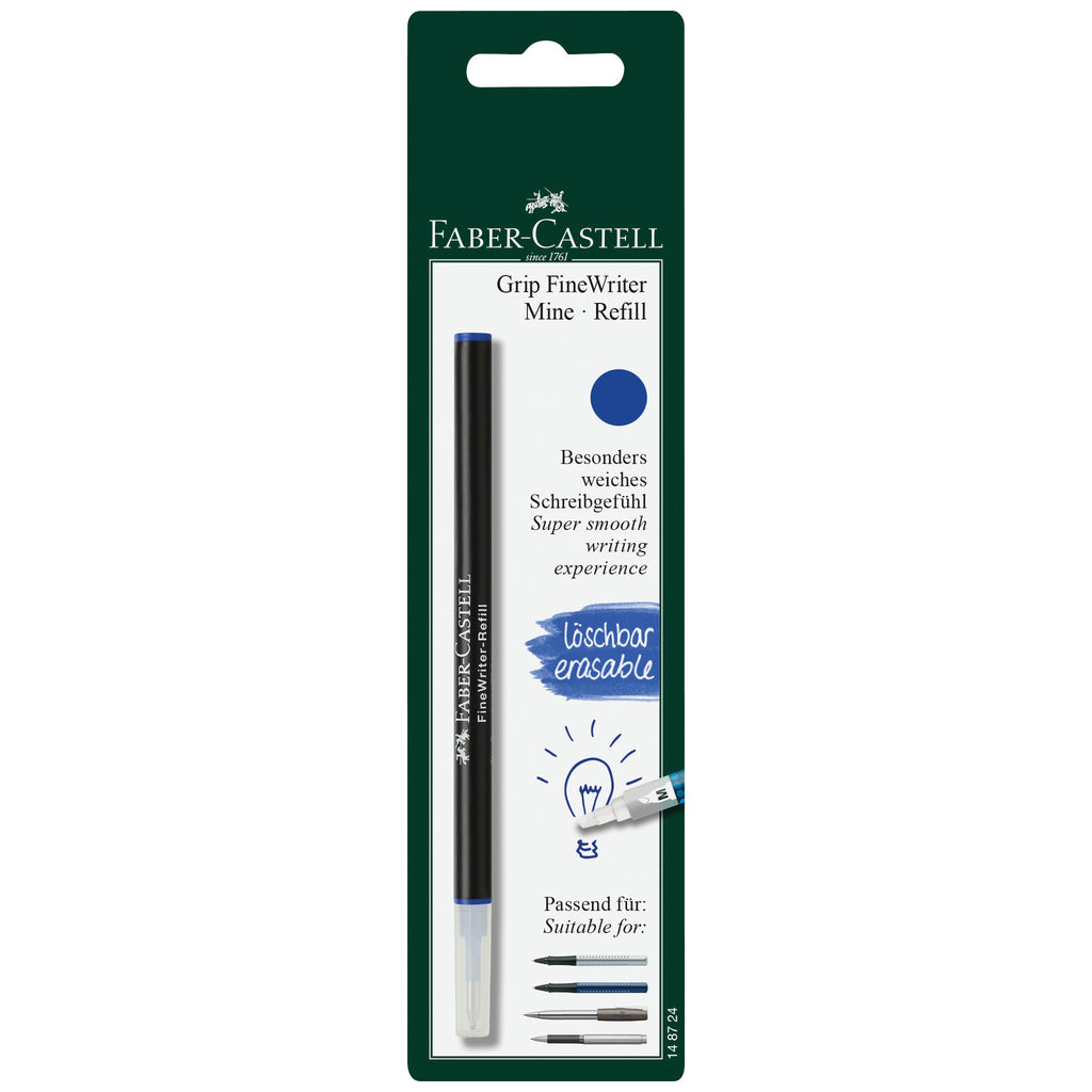 Refill FineWriter Blue Erasable Blistercard of 1