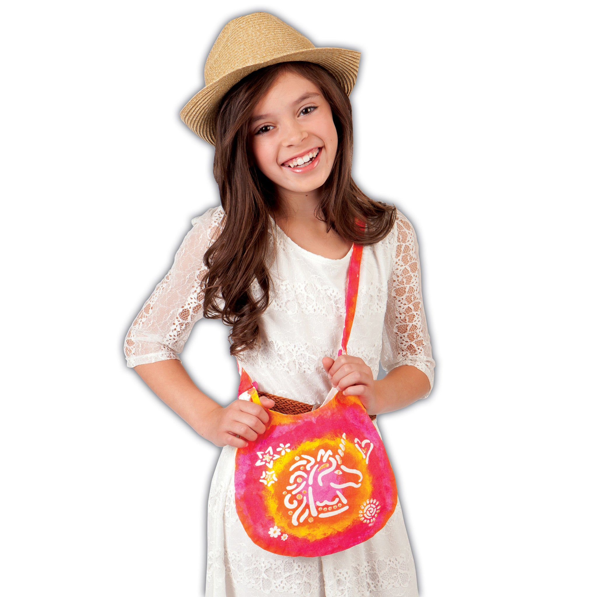 Creativity For Kids 6169000 Design and Paint Boho Bag-Makes 1 Kids Purse
