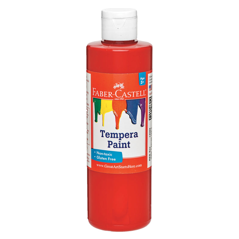 Red Tempera Paint (8 oz. bottles) - #14588