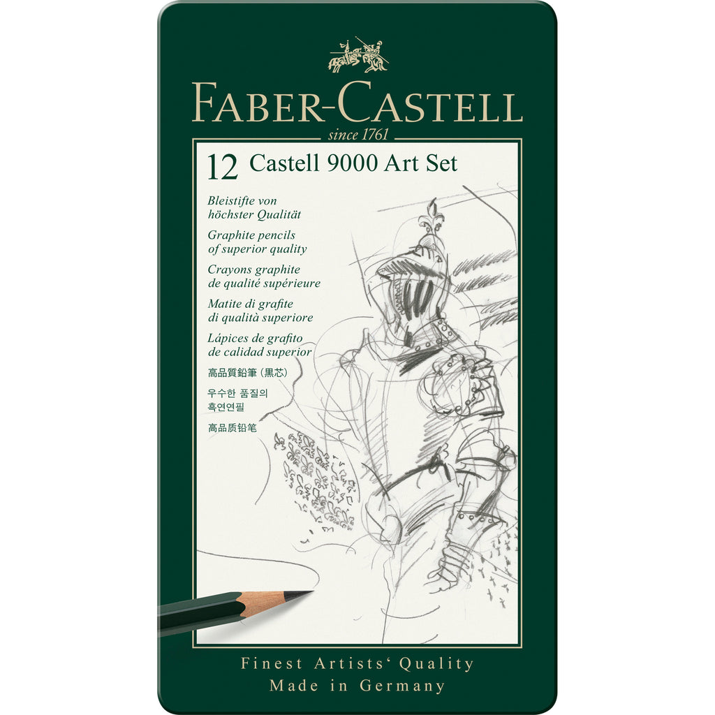 Castell® 9000 Graphite Pencil Art Set - Tin of 12 - #119065