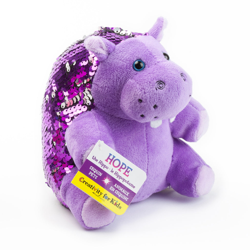 Mini Sequin Pets - Hope the Hippopotamus - #6217000