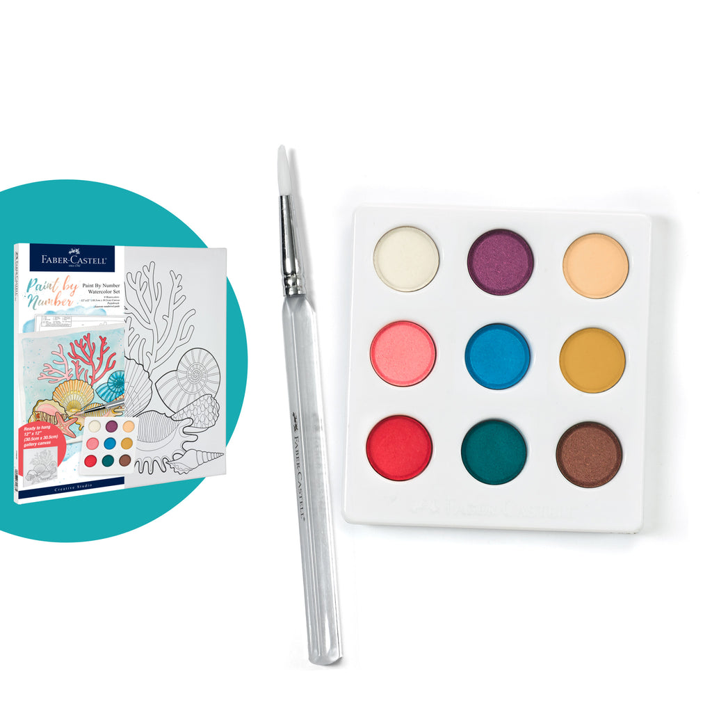 Watercolor Paint by Number Coastal - #770635