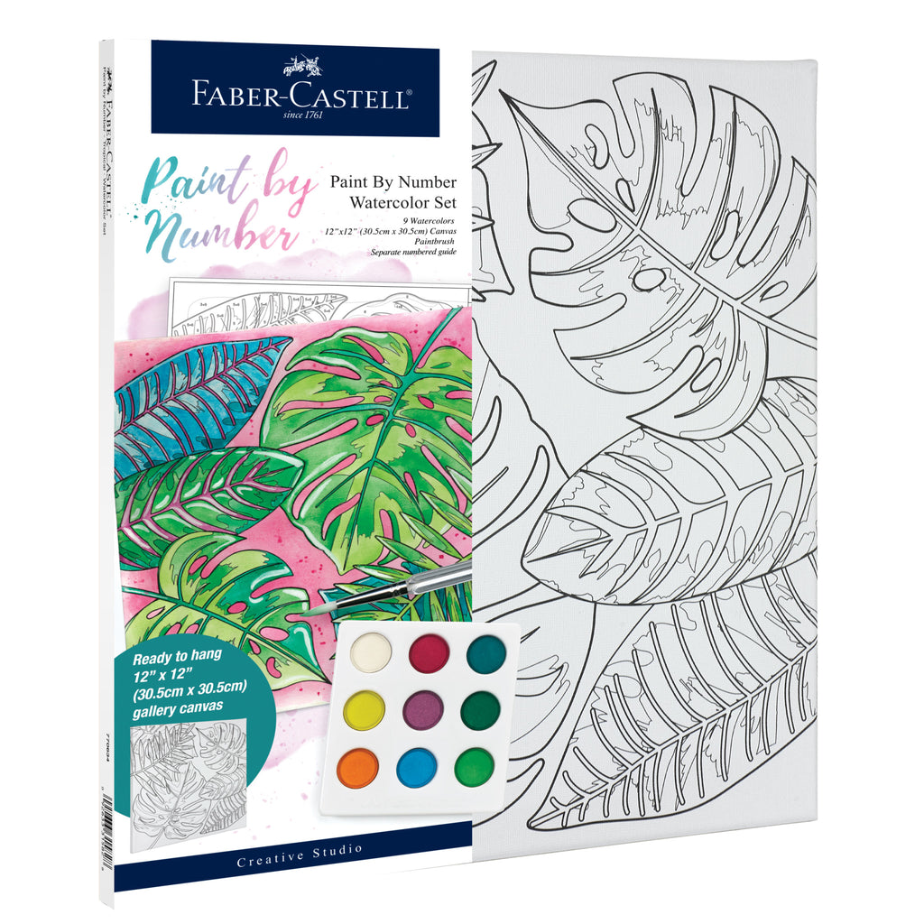 Watercolor Paint by Number Tropical - #770634