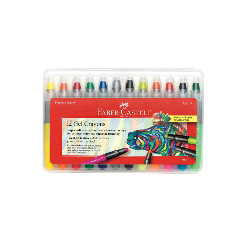 12 Gel Crayons in Storage Case - #14592