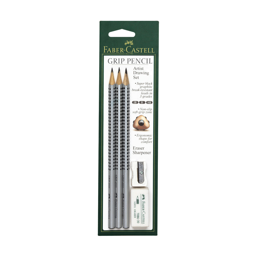 Grip® Graphite Artist Drawing Set of 3 with accessories