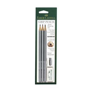 Grip Graphite Artist Drawing Set of 3 with accessories - #800014