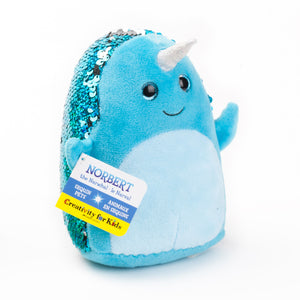 Mini Sequin Pets - Norbert the Narwhal