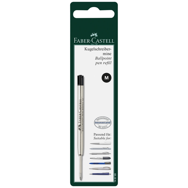 Ballpoint Pen Refill, Black - Medium - #148789