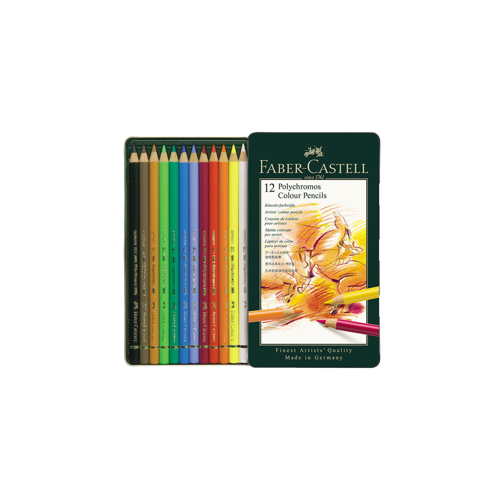 Polychromos® Artists' Color Pencils - Tin of 12