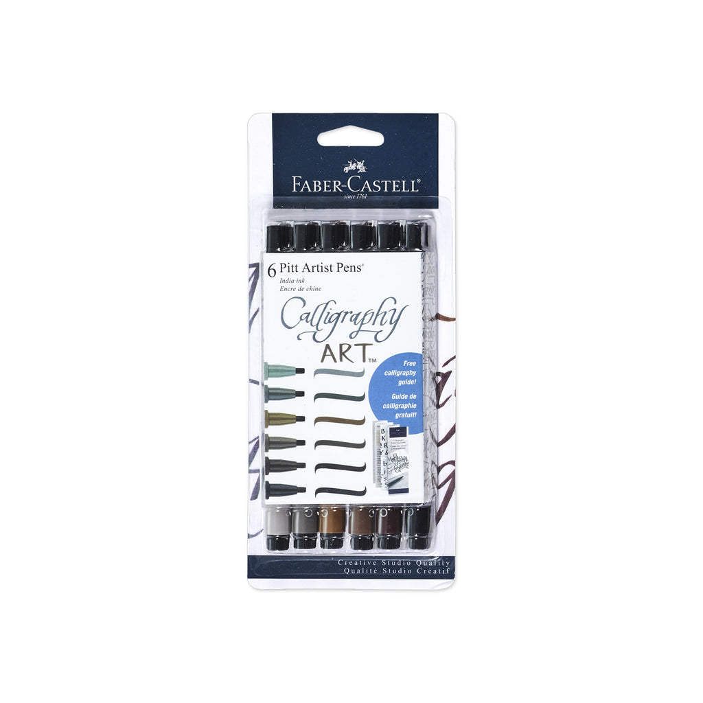 Pitt Artist Pen® Calligraphy Subtle Tones - Set of 6  - #770097