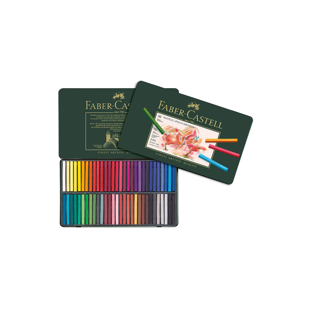 Polychromos® Artists' Pastel Crayons - Tin of 60 - #128560