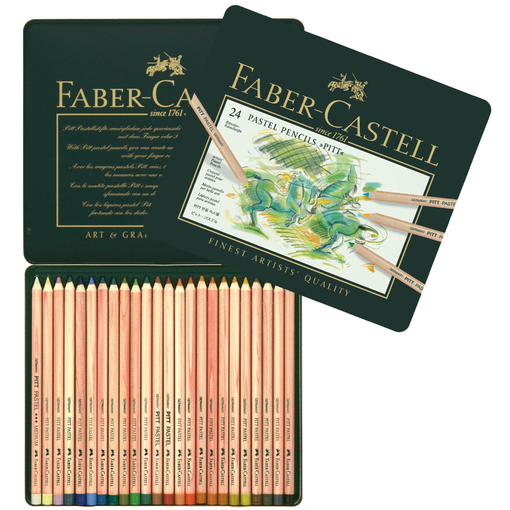 Pitt® Pastel Pencils - Tin of 24 - #112124