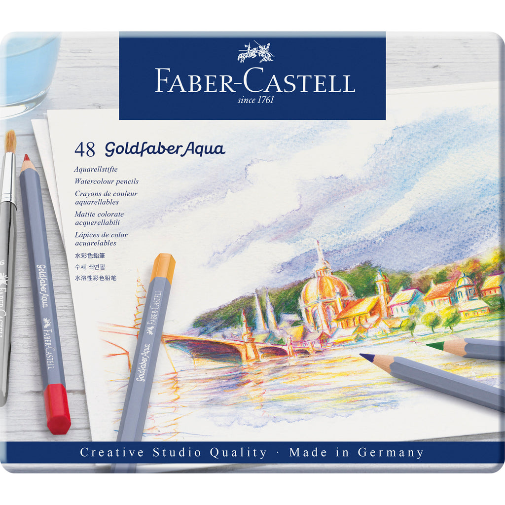 Goldfaber ™ Aqua Watercolor Pencils - Tin of 48
