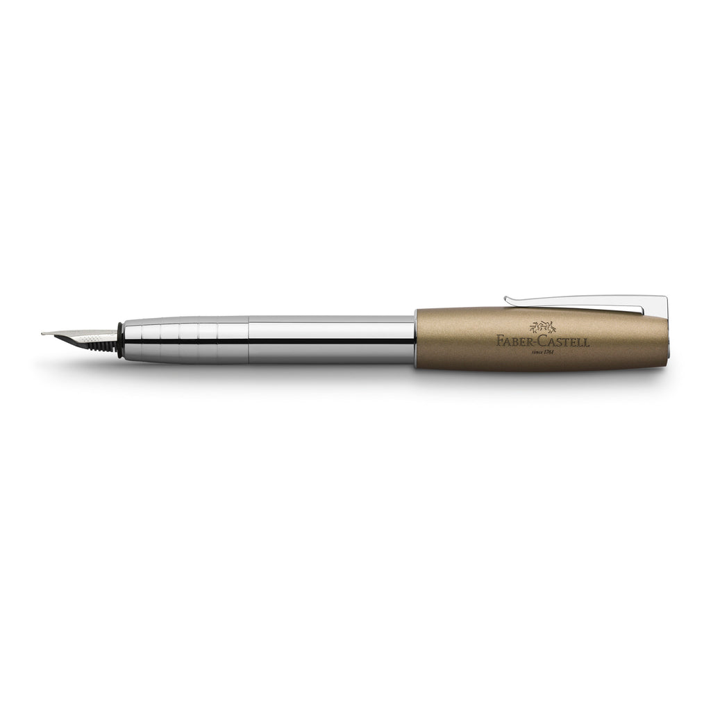 Loom Fountain Pen, Metallic Olive - Broad - #149123