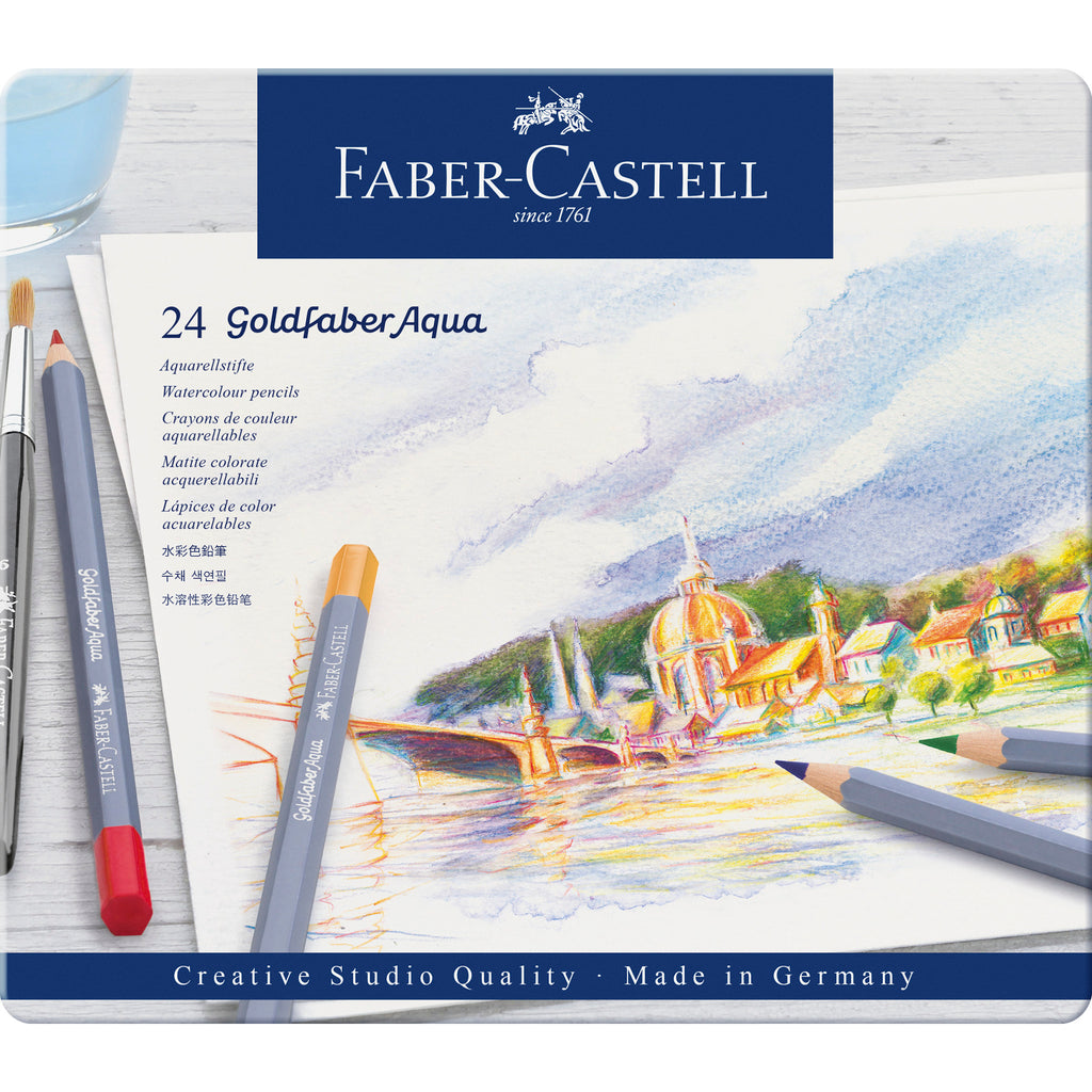 Goldfaber Aqua Watercolor Pencils - Tin of 24 - #114624