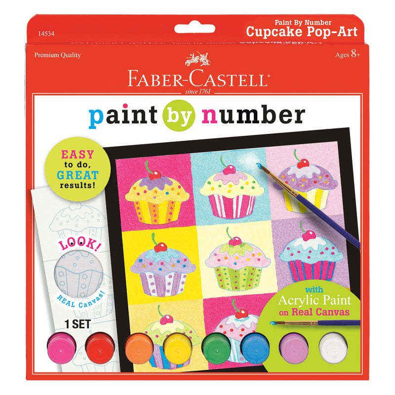 Paint by Number Cupcake Pop-Art - #14534