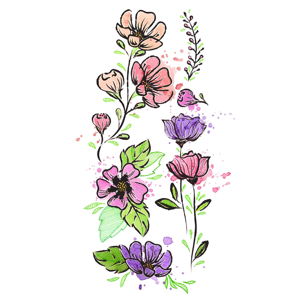 Mixed Media Transfers - Flowers - #770750