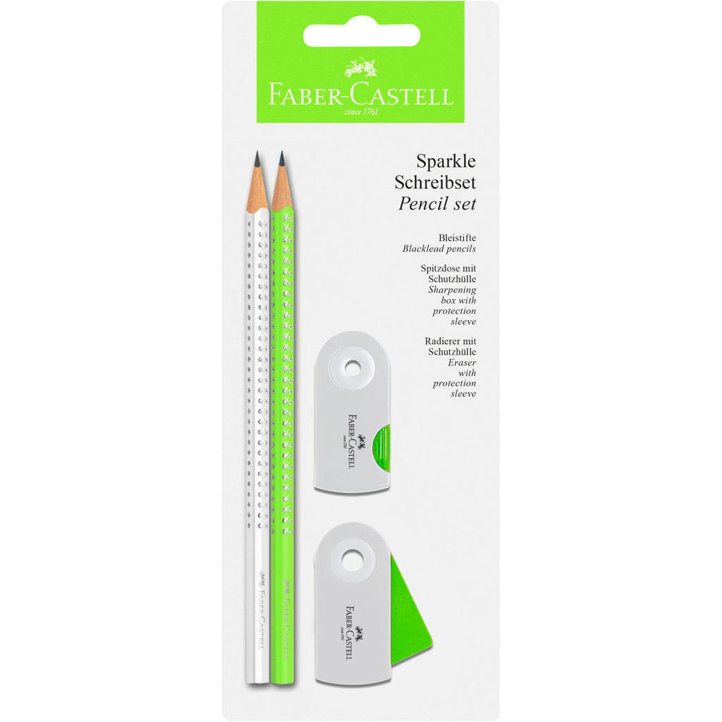 Sparkle Pencil Set - Neon Green
