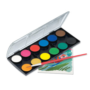 Watercolor Paint Set - 12 Colors - #125012