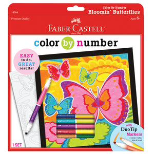 Color by Number Bloomin Butterflies