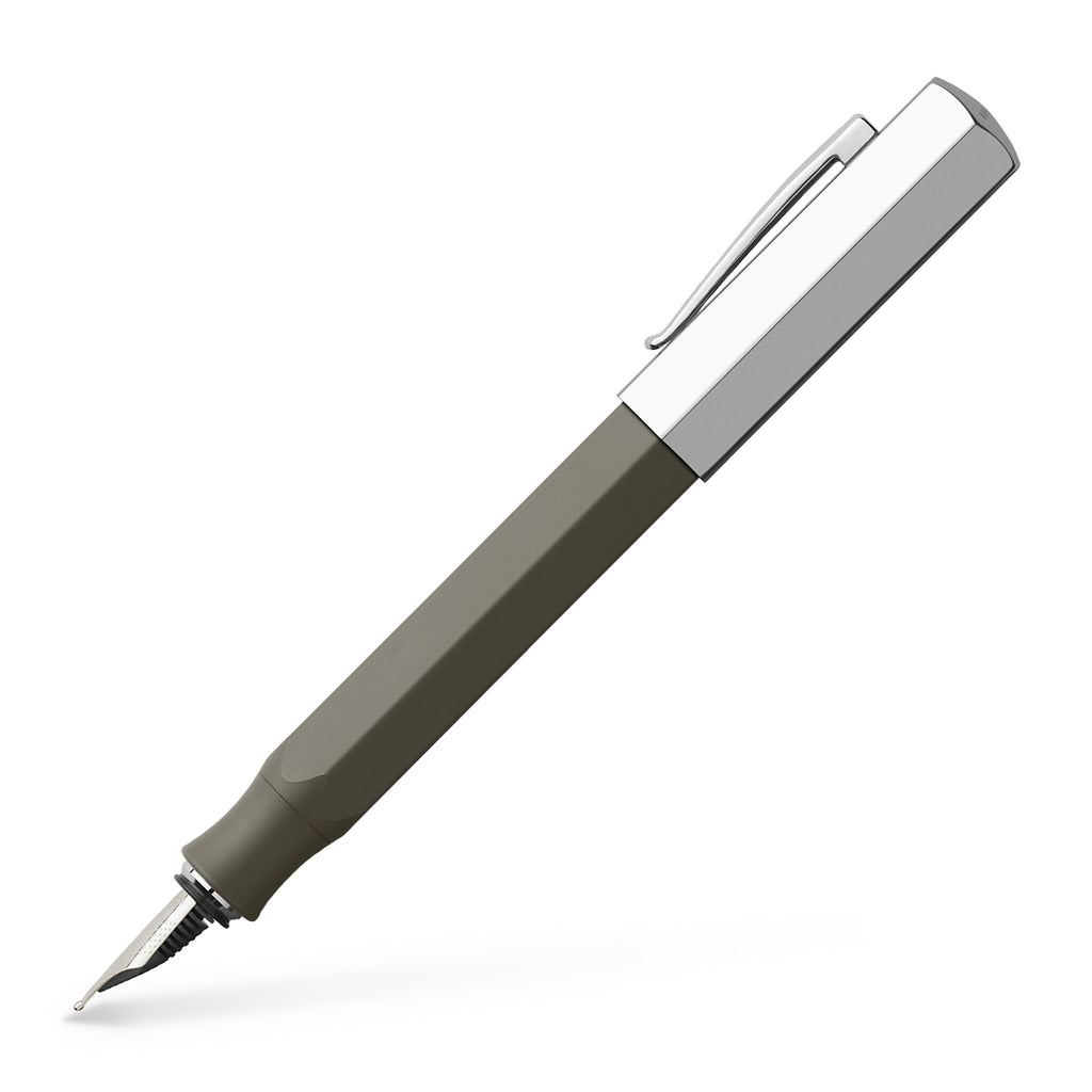 Ondoro Fountain Pen, Grey Brown - Medium