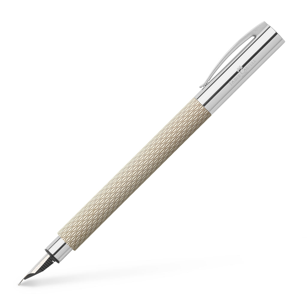 Ambition Fountain Pen, OpArt White Sand - Medium