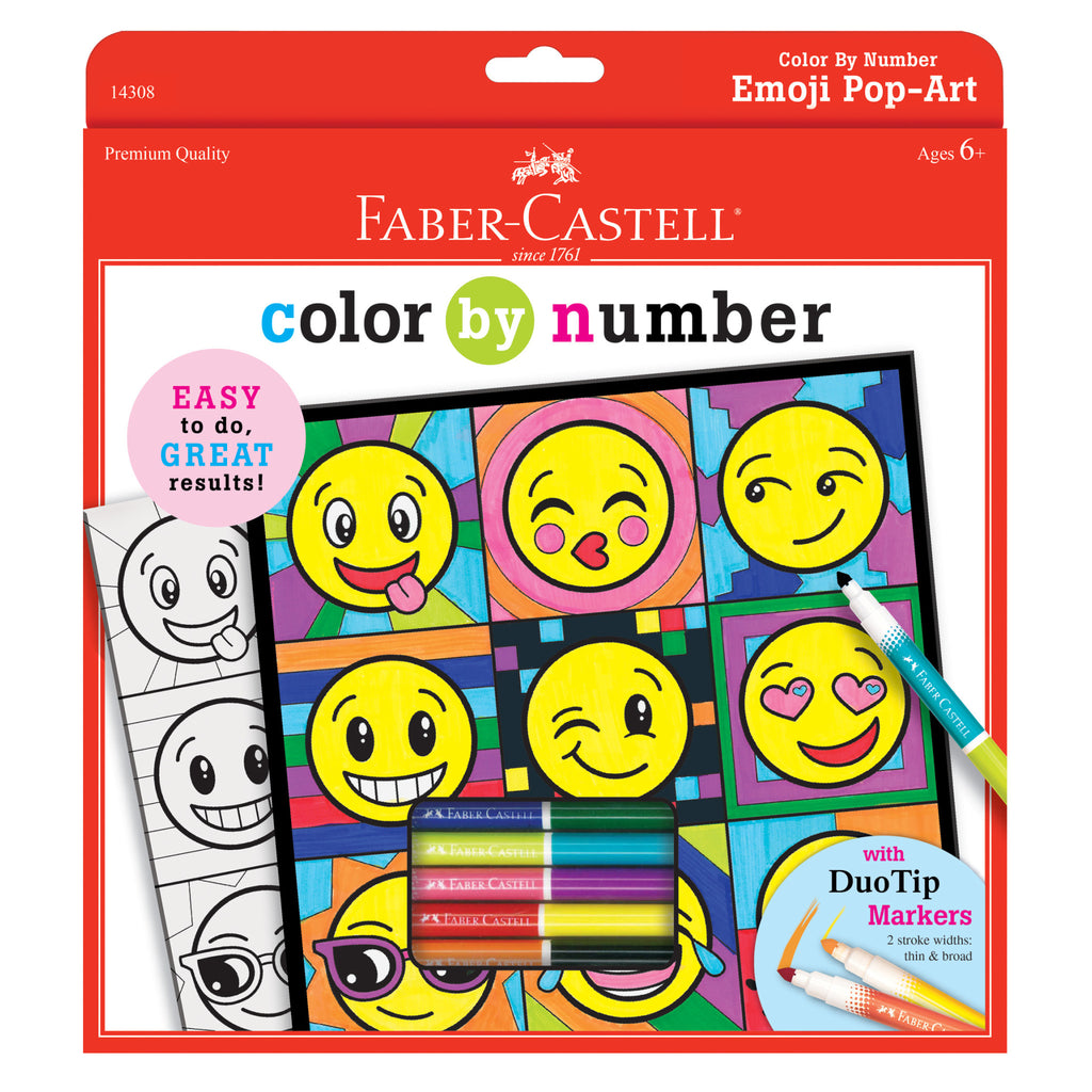 Color by Number Emoji Pop Art - #14308