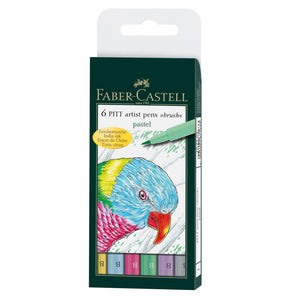 Pitt Artist Pen® Brush, Pastel - Wallet of 6 - #167163
