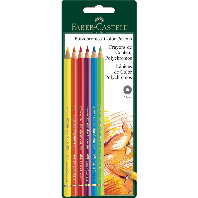 Polychromos® Artists' Color Pencils - Set of 6 - #800135
