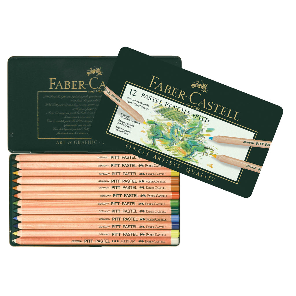 Pitt® Pastel Pencils - Tin of 12 - #112112