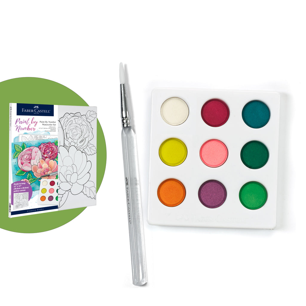 Watercolor Paint by Number Floral  - #770630