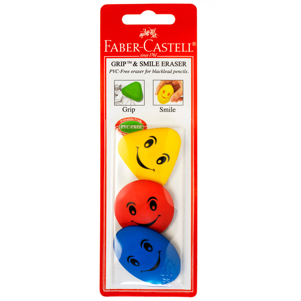 Grip & Smile Erasers - 3 Pack - #189023-3BC