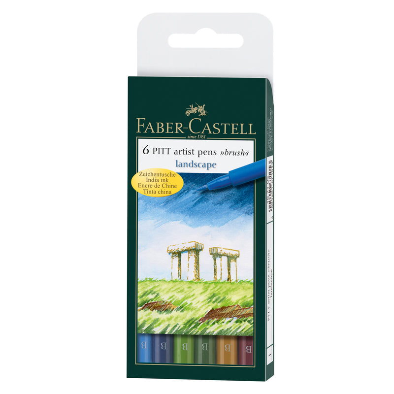 Pitt Artist Pen® Brush, Landscape - Wallet of 6 - #167105