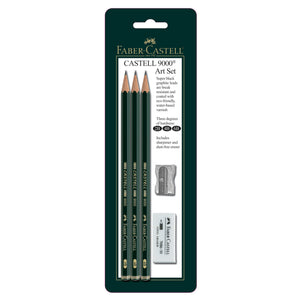 Castell® 9000 Art Set - Assortment of 3 with accessories - #800029